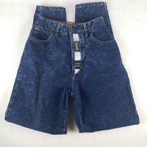 Vintage High Rise Acid Wash Mom Jeans Spellout